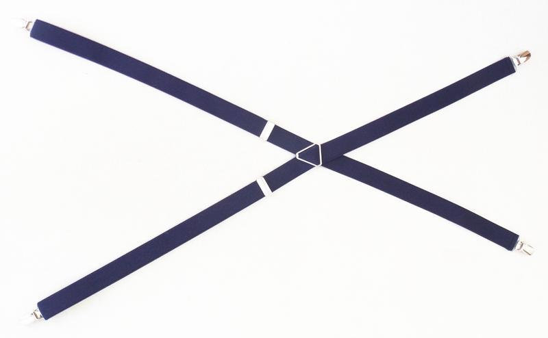 Женские синие подтяжки ширина 2,5 см (арт. 256) - Фото 4