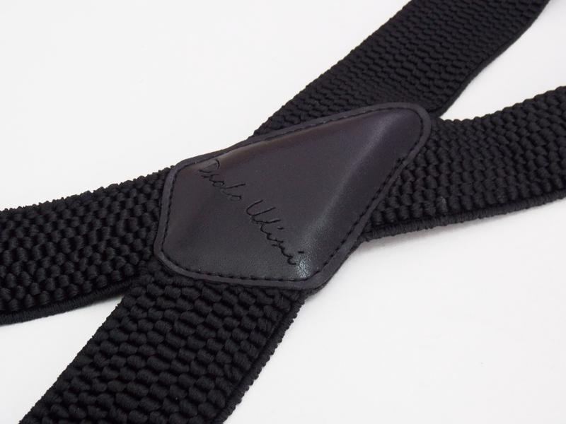 Широкие мужские подтяжки paolo udini черные (арт. 126) - Фото 2