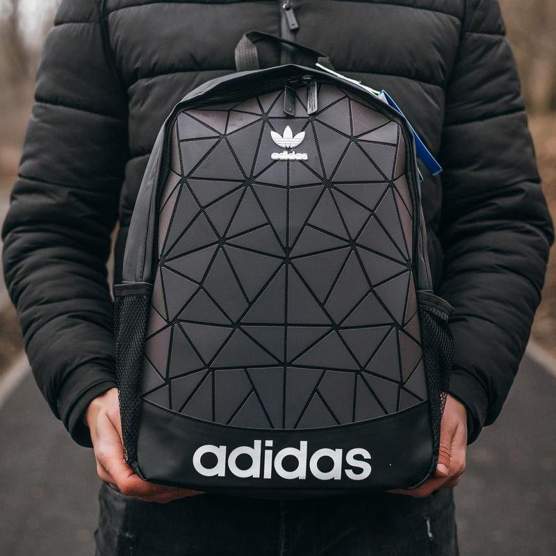 Adidas bags reflective шикарный мужской рюкзак черный цвет😍