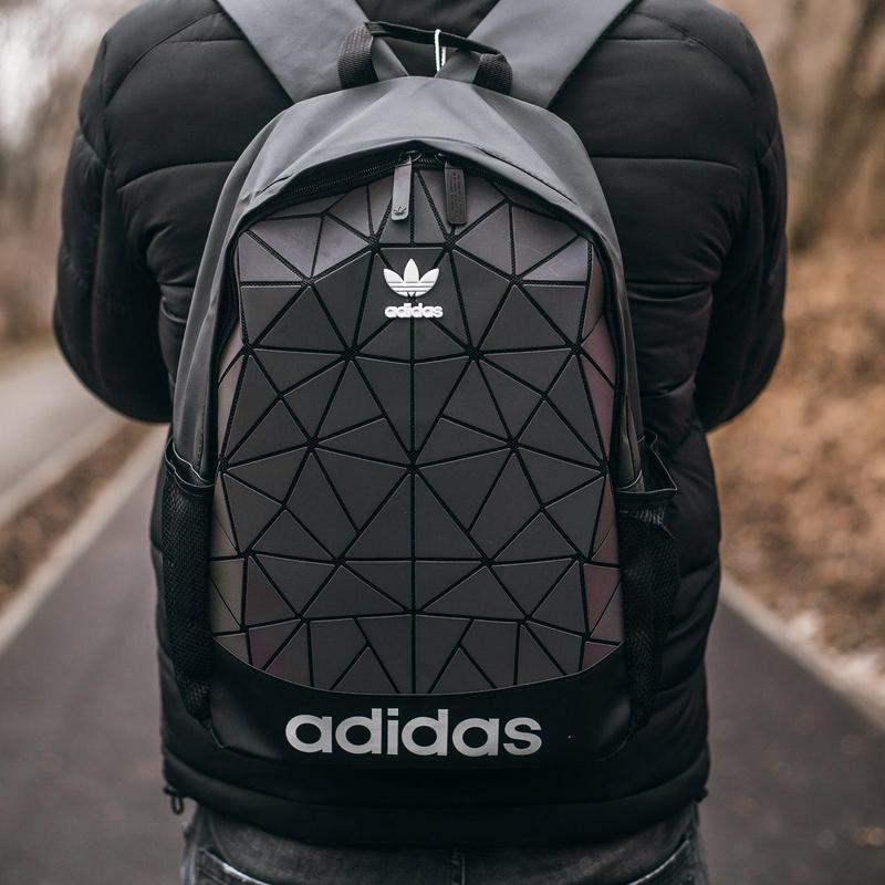 Adidas bags reflective шикарный мужской рюкзак черный цвет😍 - Фото 2