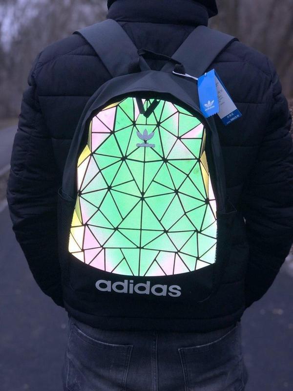 Adidas bags reflective шикарный мужской рюкзак черный цвет😍 - Фото 3