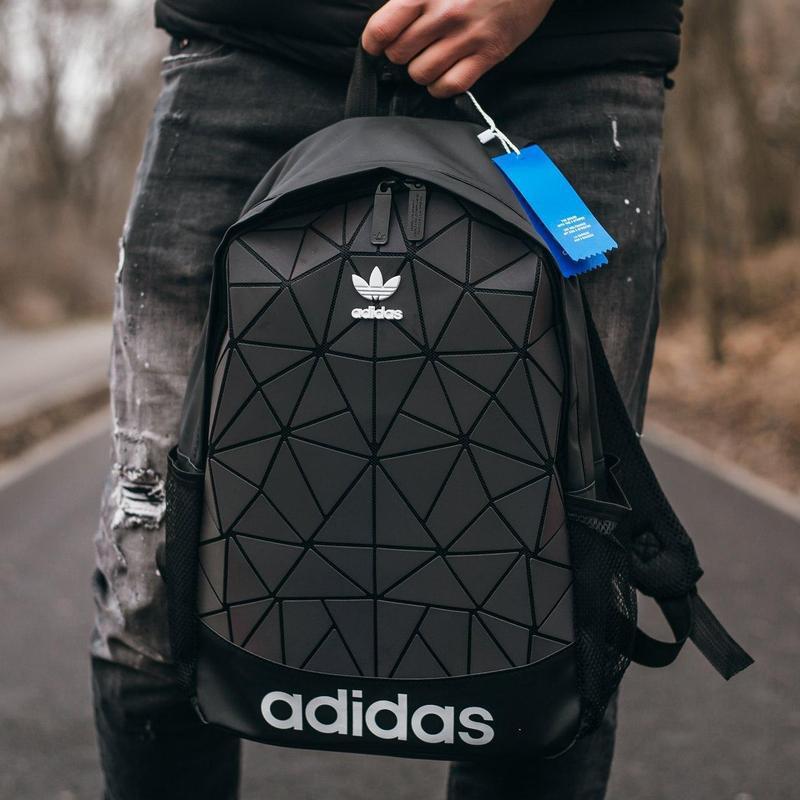 Adidas bags reflective шикарный мужской рюкзак черный цвет😍 - Фото 4