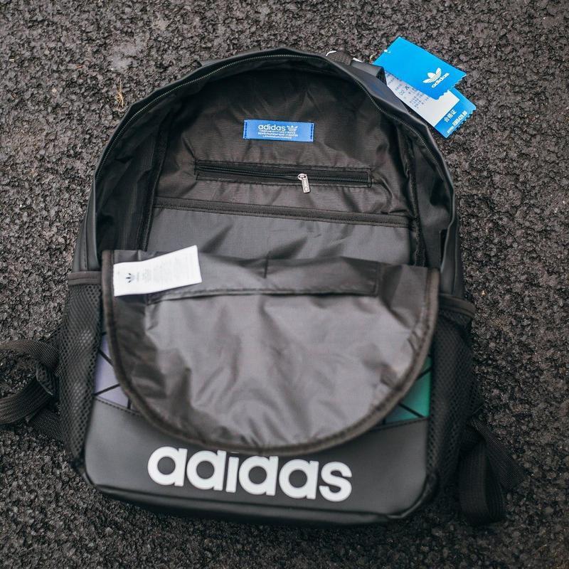 Adidas bags reflective шикарный мужской рюкзак черный цвет😍 - Фото 5