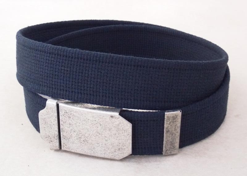 Темно-синий тканевый ремень для джинс