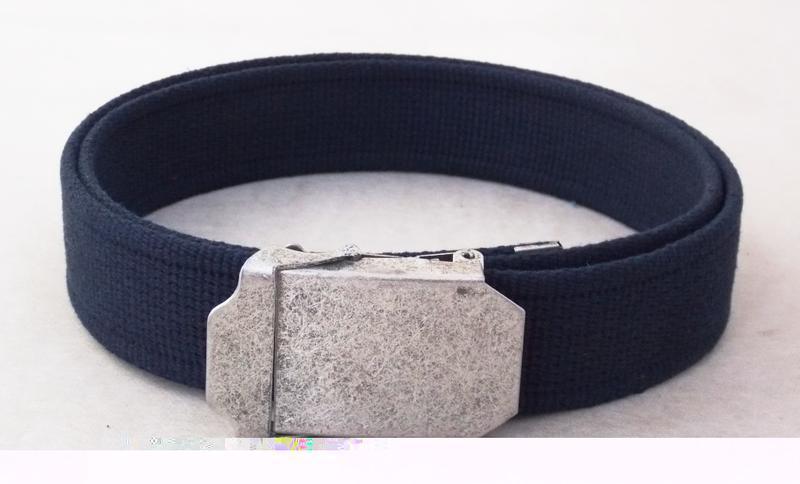 Темно-синий тканевый ремень для джинс - Фото 3