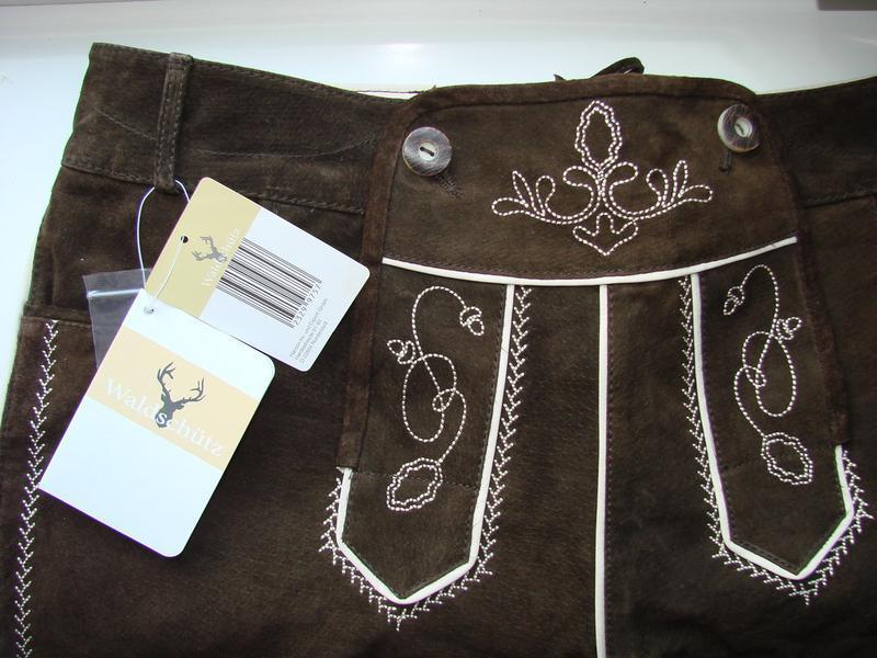 Замшевые традиционные шорты waldschütz на октоберфест рамер на... - Фото 3