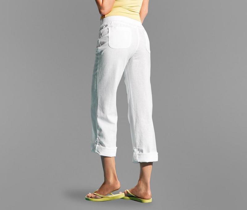 Льняные брюки трансформеры tcm tchibo германия евро 40 на наш 46 - Фото 3