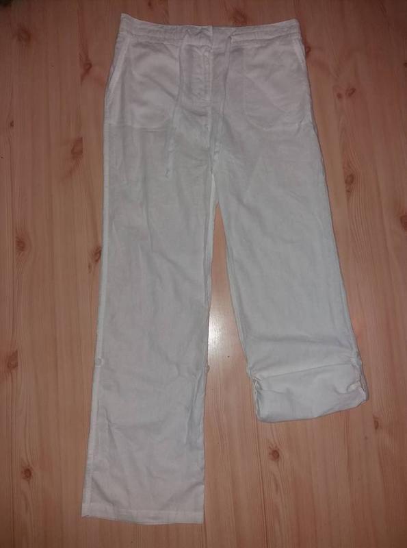 Льняные брюки трансформеры tcm tchibo германия евро 40 на наш 46 - Фото 5