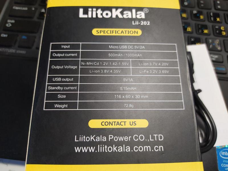 LiitoKala Lii-202 зарядное устройство для аккумуляторов 18650 - Фото 4