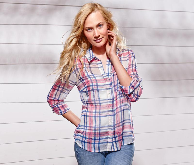 Легкая шифоновая блуза tcm tchibo германия
