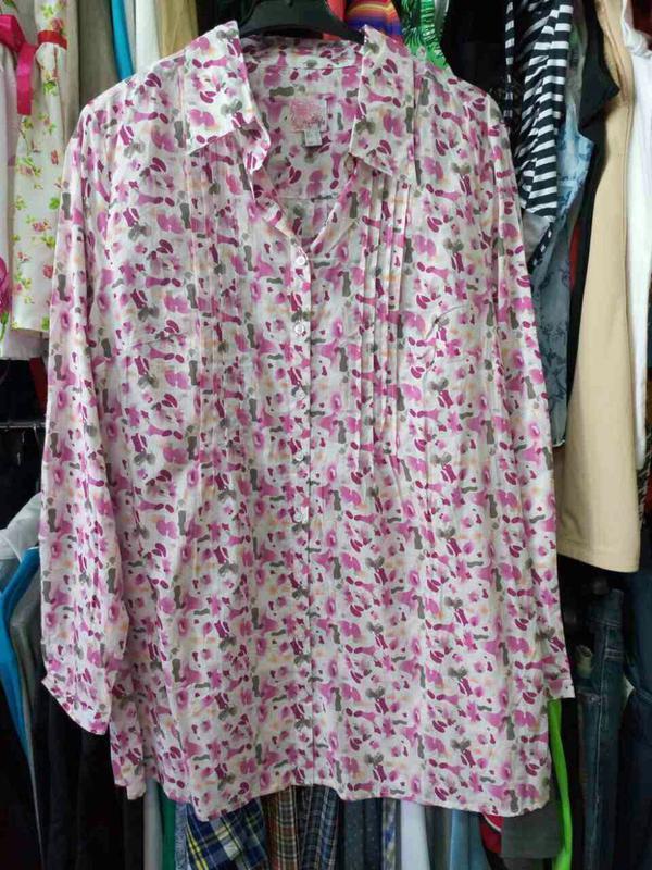 Блуза-туника ситцевая германия tcm tchibo на наш 48 и 50 размер - Фото 5