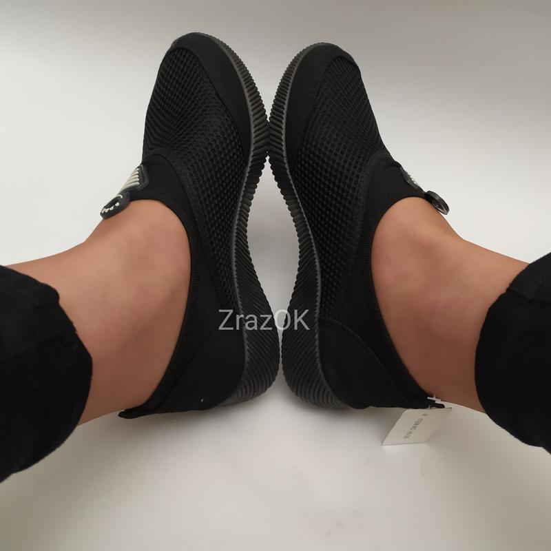 Sale черные кеды слипоны мокасины - Фото 3