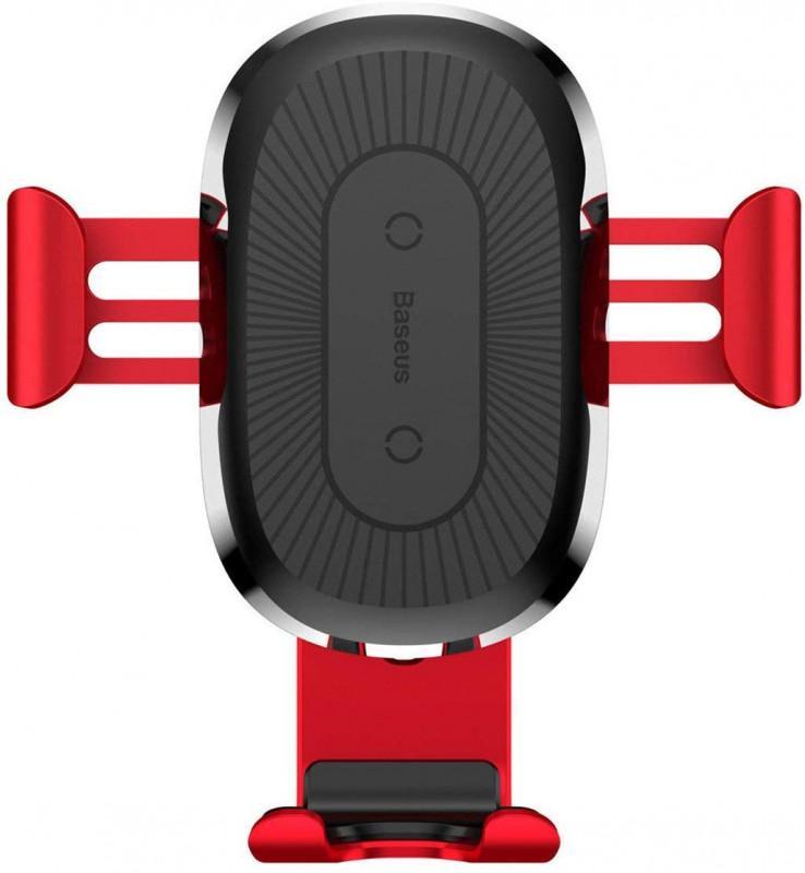 Автодержатель Baseus Wireless Charger Gravity Car Mount Air Outle - Фото 6