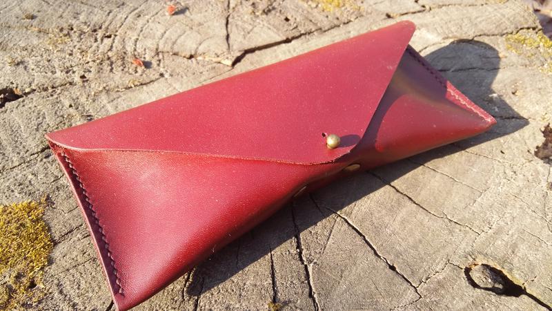 Чехол-футляр для солнечных очков. цвет марсала (бордовый), нат...