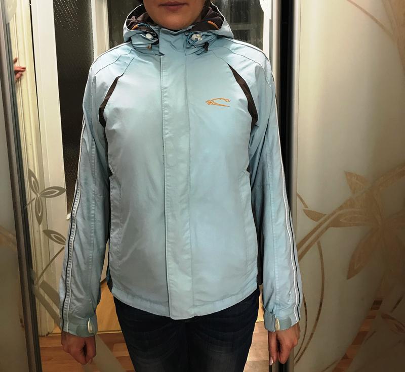 Лыжная оригинальная курточка oneill нежно-голубого цвета - Фото 2