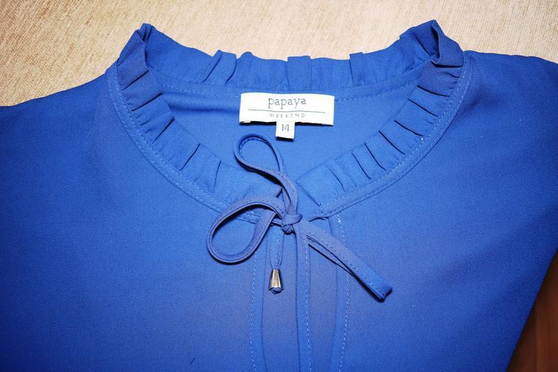 Блуза с оригинальным воротником стоечкой papaya, размер 3xl - Фото 3