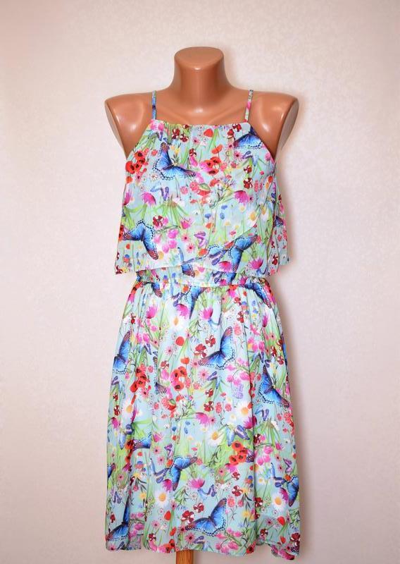 Cказочное летнее платье на бретелях tu, размер хs