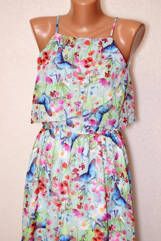 Cказочное летнее платье на бретелях tu, размер хs - Фото 2