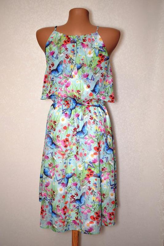 Cказочное летнее платье на бретелях tu, размер хs - Фото 3