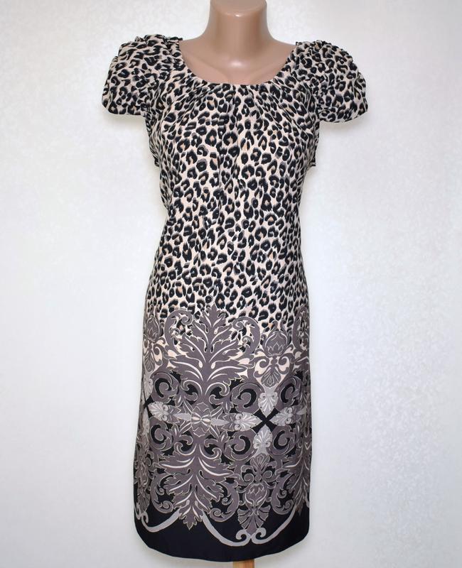 Красивое платье леопард wallis размер m