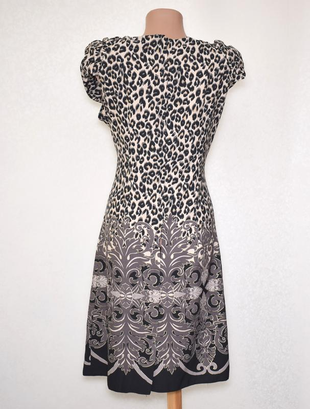 Красивое платье леопард wallis размер m - Фото 2