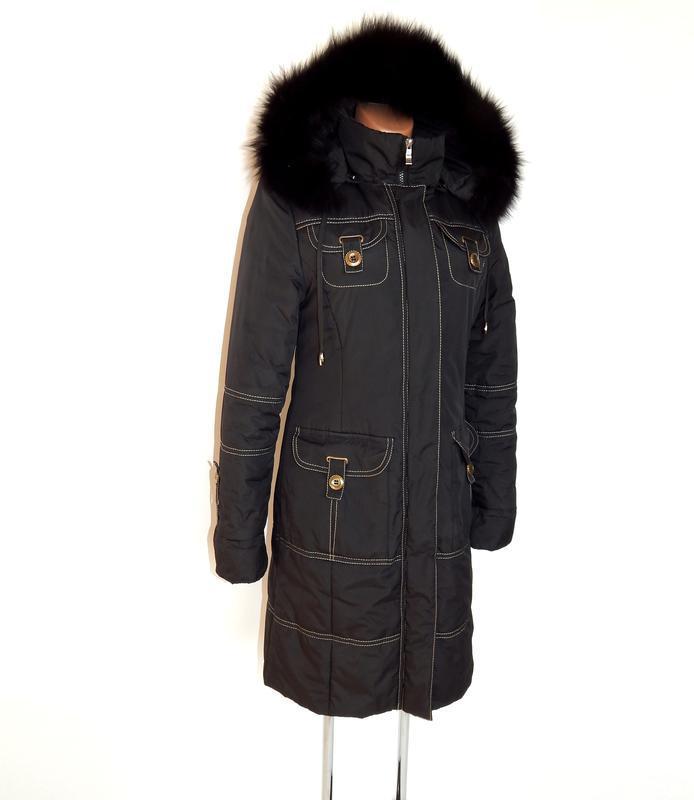 Длинное, зимнее пальто - Фото 2