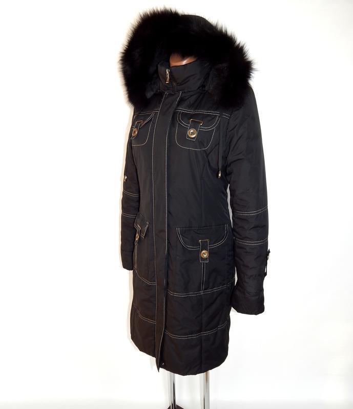 Длинное, зимнее пальто - Фото 4