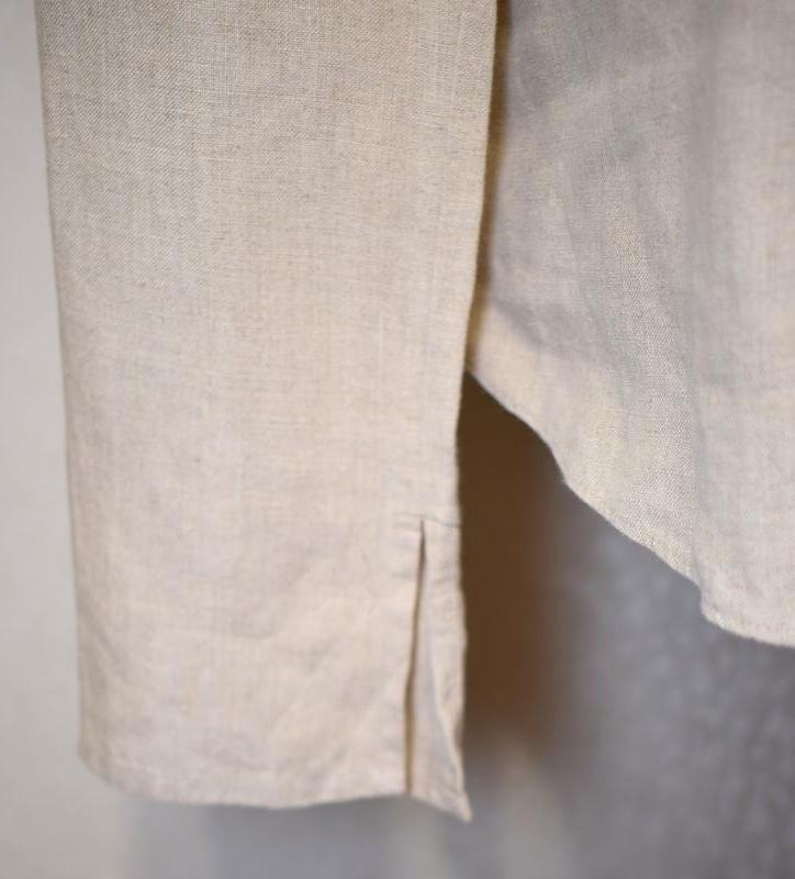 Симпатичная льняная блуза per una c коттоновым кружевом на груди - Фото 3