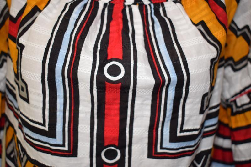 Cупер блуза коттоновая в геометрический принт next - Фото 5