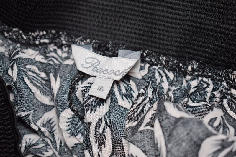 Длинная юбка с пояском вискоза peacocks uk 16, xxl - Фото 5