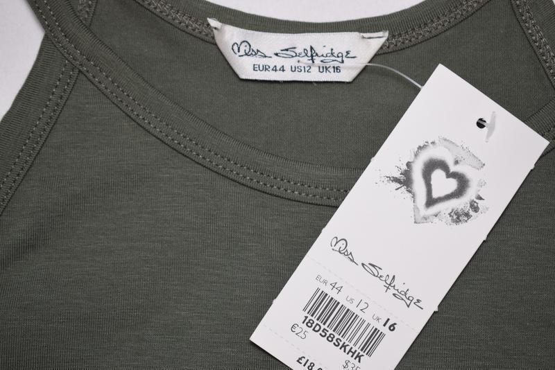 Платье миди сарафан по фигуре хаки miss selfridge, cotton - Фото 5
