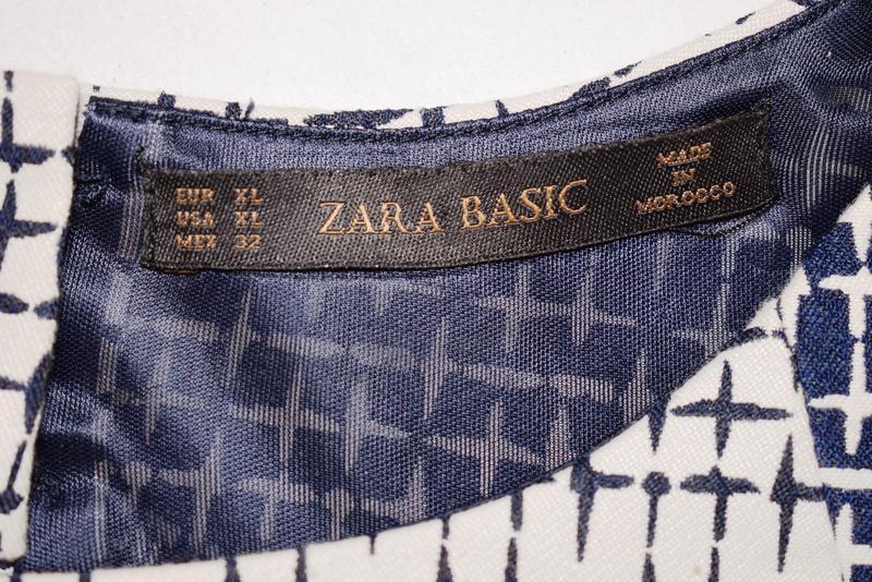Качественное коттоновое платье футляр с вырезом на спине zara - Фото 4