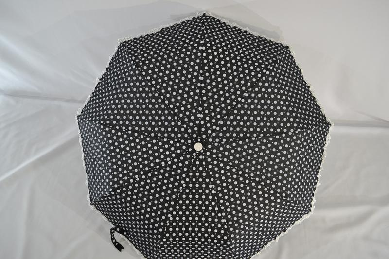 Новый стильный зонт-полуавтомат в горошек - Фото 2