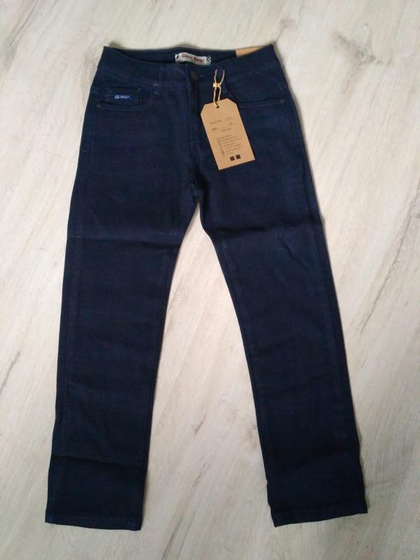 Новые синие теплые котоновые брюки для мальчиков в школу. 140 ...