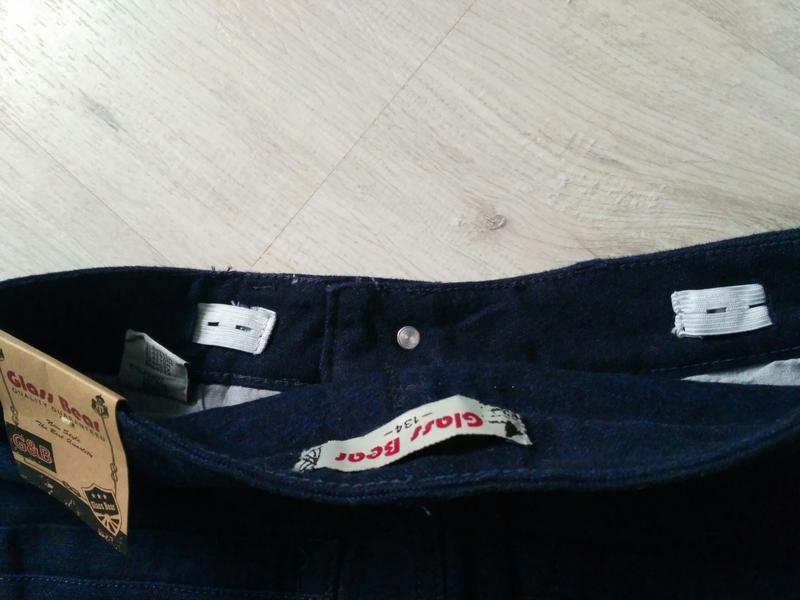 Новые синие теплые котоновые брюки для мальчиков в школу. 140 ... - Фото 4