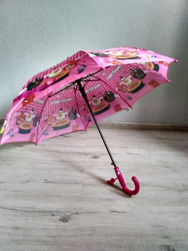 Детский зонтик для девочки angry birds злые птички 5-9 лет - Фото 2