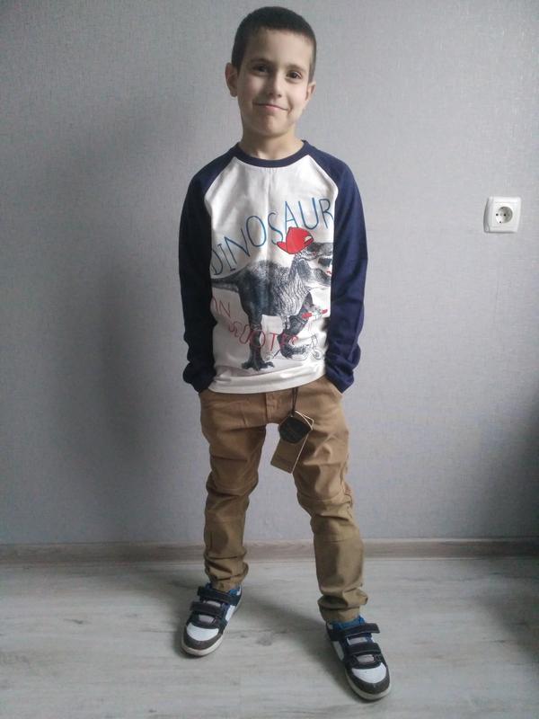 Новые стильные котоновые брючки для мальчика 116-146. венгрия. - Фото 4
