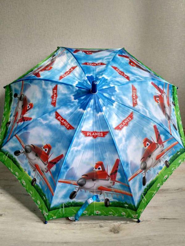 Зонтик для мальчика самолетики літачки 5-9 лет