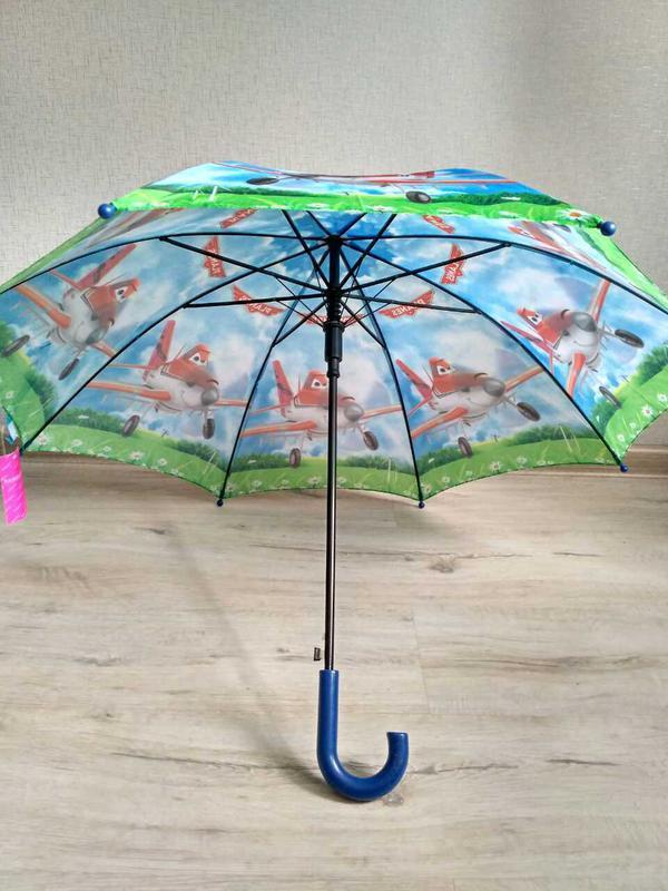 Зонтик для мальчика самолетики літачки 5-9 лет - Фото 2