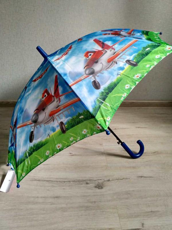 Зонтик для мальчика самолетики літачки 5-9 лет - Фото 3