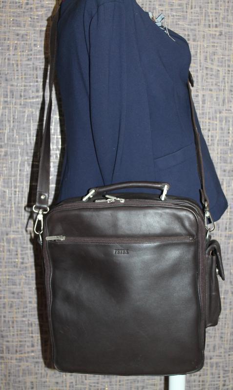 Мужская кожаная сумка petek - Фото 3