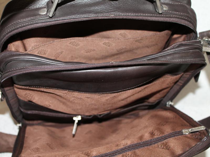 Мужская кожаная сумка petek - Фото 5