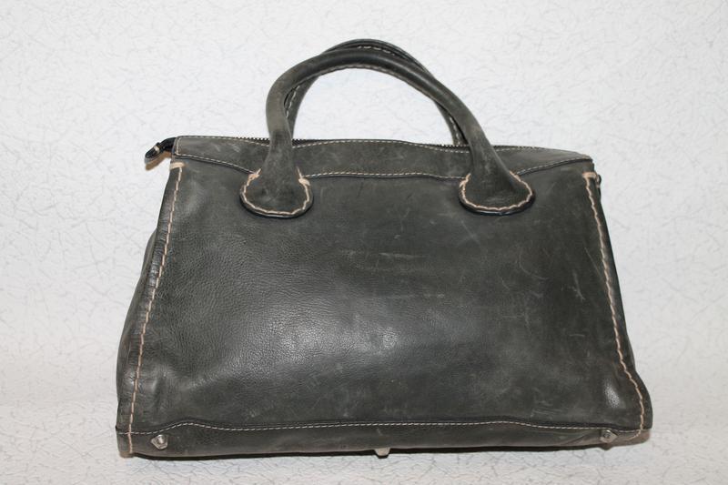 Большая кожаная сумка chloe оригинал,серийный нгмер - Фото 3