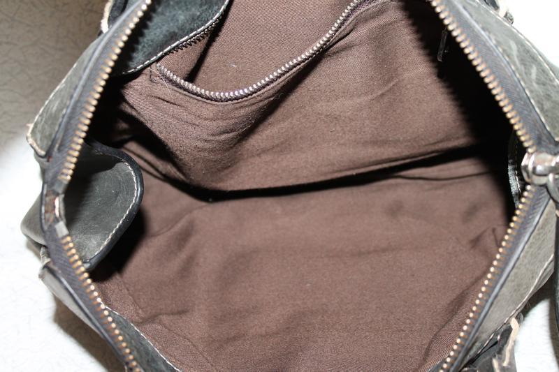 Большая кожаная сумка chloe оригинал,серийный нгмер - Фото 5