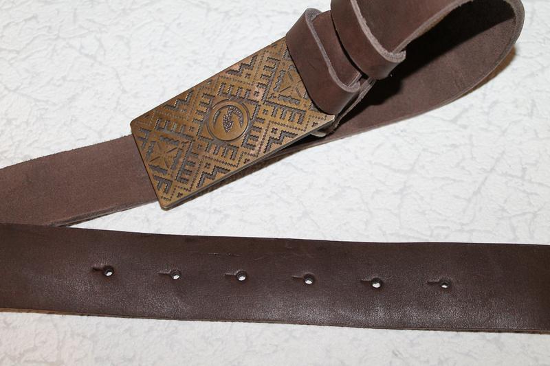 Кожаный ремень/пояс плотная кожа - Фото 5