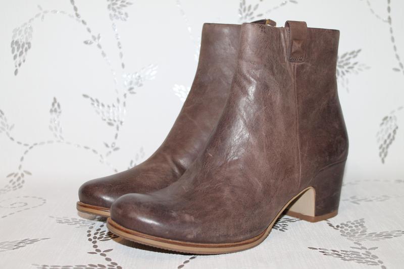 Кожаные ботинки ecco 37 размер 24 см стелька