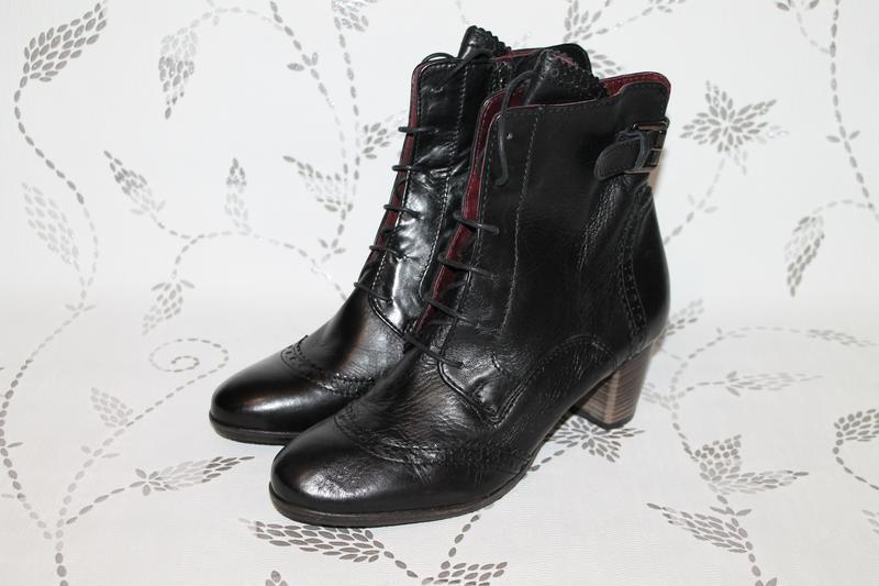 Кожаные ботинки броги ecco 40 размер 26 см стелька