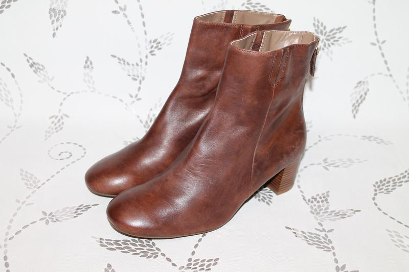 Кожаные ботинки ecco 41 размер 27 см стелька