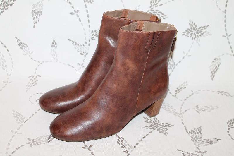 Демисезонные кожаные ботинки ecco 40 размер 26 см стелька