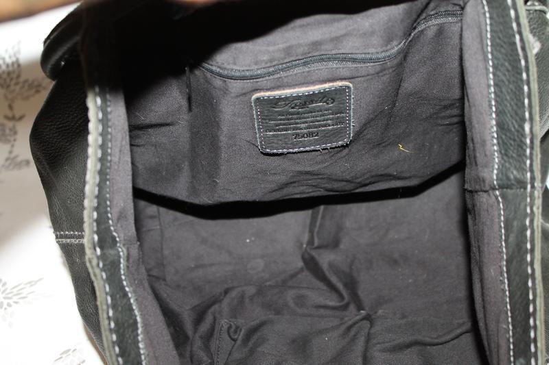 Большая кожаная сумка fossil. мясистая кожа - Фото 5